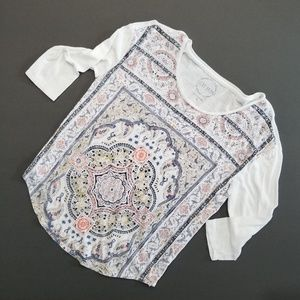 Lucky Brand print top Small